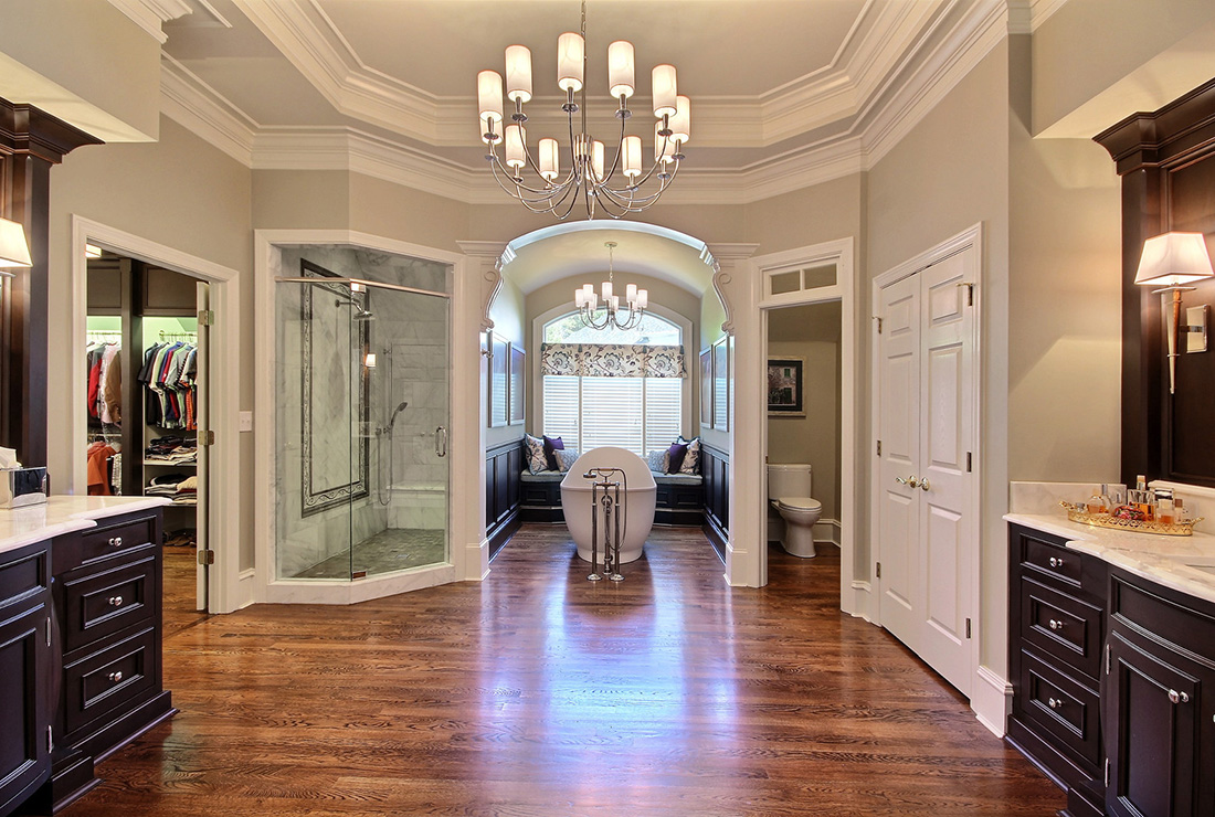 Elegant Master Bath Remodeling With Rutt Handcrafted Cabinets